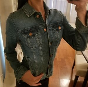 J.Crew Denim Collection Blue Jean Jacket Collared